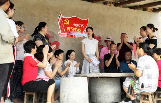 传习志愿者宣讲进乡村