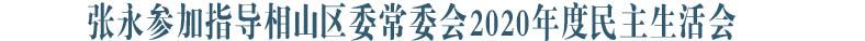 张永参加指导相山区委常委会2020年度民主生活会