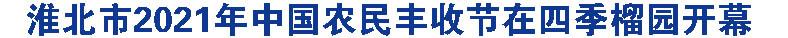 淮北市2021年中国农民丰收节在四季榴园开幕